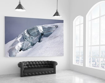 Glacier Blue Cyan Ice Flow Shades   Cold Winter White Snow Alps   Fine Art Photography   Zermatt Matterhorn   polychromatophil   Layer
