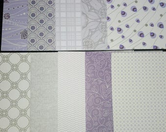 set of 10 sheets of paper scrapbooking 15 x 15 cm