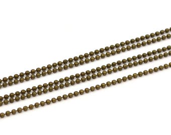 Chain antique bronze beads 1.5 mm