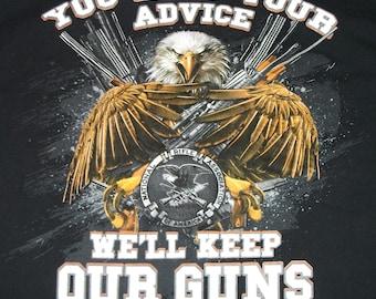 NRA Black National Rifle Association T-shirt Size Large