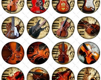 Musical Instrument Magnets, Violin Guitar Magnets, Music Lover Magnets, Piano, Violin Pins  Recital Magnets Recital Favors