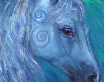 The Healing Horse - A4 Print