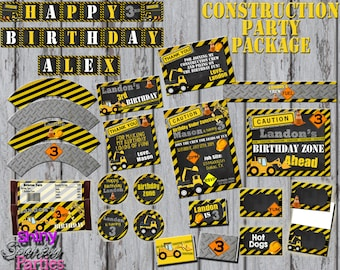 Construction Birthday Party, construction party, construction birthday, CONSTRUCTION PARTY PACKAGE, construction party printables, diy