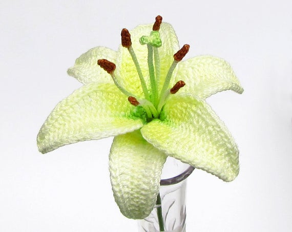 Crochet Lily Pattern Instant Download Pdf Pattern Photo Tutorial