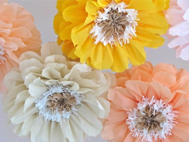 Poppy glow 5 giant paper flowers baby bridal shower cake zoom mightylinksfo