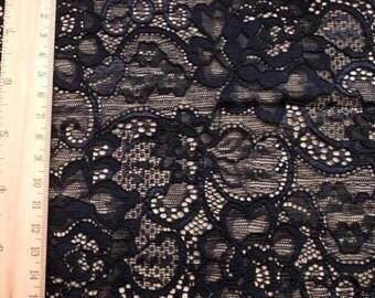 Lace Trim Black Floral  Lace Fabric Wedding Trim DIY Handmade 16cm width 1 yard H173