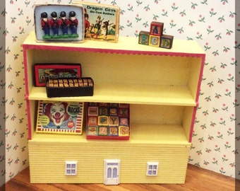 1:12 Dollhouse Miniature Low Bookcase Kit/ Miniature furniture  FS434