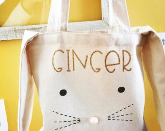 Canvas Personalized Bunny Bags