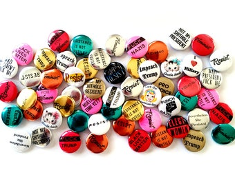 Make Any Pin a Magnet  - Trump Stinks - Mueller Time - Fuck the Patriarchy - Pussy Grabs Back - Resist - Impeach Trump - Button - Badge