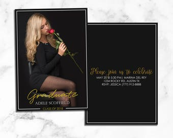 Senior Graduation Announcement Template - Senior Card Template - Photoshop Template for Photographers - Senior Photographer Marketing