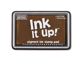 Teddy Bear Brown Ink It Up Pigment Ink Stamp Pad Scrapbooking or Card Making birthday cards crafts papercrafting rubber embossing stamping