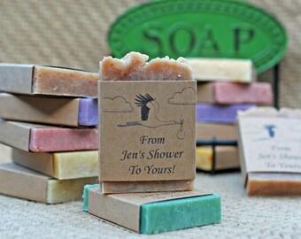 Baby shower favors natural soap favors personalized soap favors customized soap favors guest soap sample travel soaps mini soaps rustic