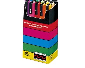 15 Uni-Posca Paint Marker Pen   Fine Point Pens   Set of 15 Markers   Felt Tip Pens