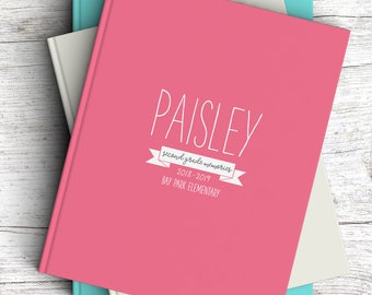 NEW // School Years Journal, Blank Book, Notebook, Personalized, Gift, School Memories