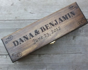 Custom Wedding Wine Box, Wedding ceremony wine box, Wine box ceremony, Rustic wine box, First Fight Box, Memory Box, Anniversary gift