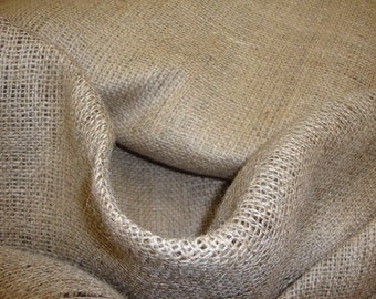 "Natural Burlap Fabric 45"" Wide By the yard"