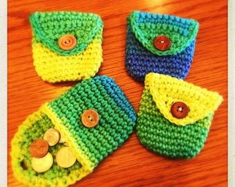 Crochet Coin Purses Assorted Colors