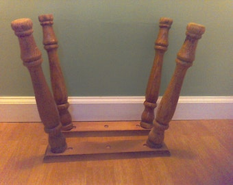 Set of 4 mid century table legs with mounting plate,