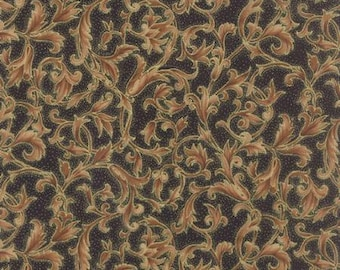 Christmas Fabric by the yard Quilt Gold floral Black 33003 16m Cotton Sewing Quilting Quilts Fabrics