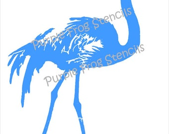 Pink Flamingo STENCIL (Reusable) Different Sizes Available