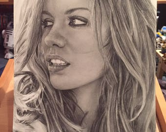 Original Graphite Drawing of Kate Beckinsale (NOT a print)