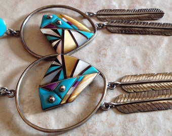 Vintage Long Zuni Earrings