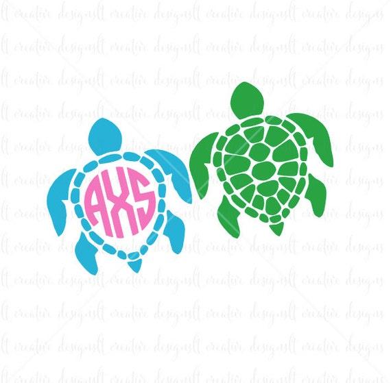 Download Sea Turtle Monogram SVG Sea Turtle SVG Sea Turtle Monogram