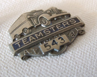 Vintage Teamsters - Local 543, Lafayette, Indiana - Hat/ Lapel Pin