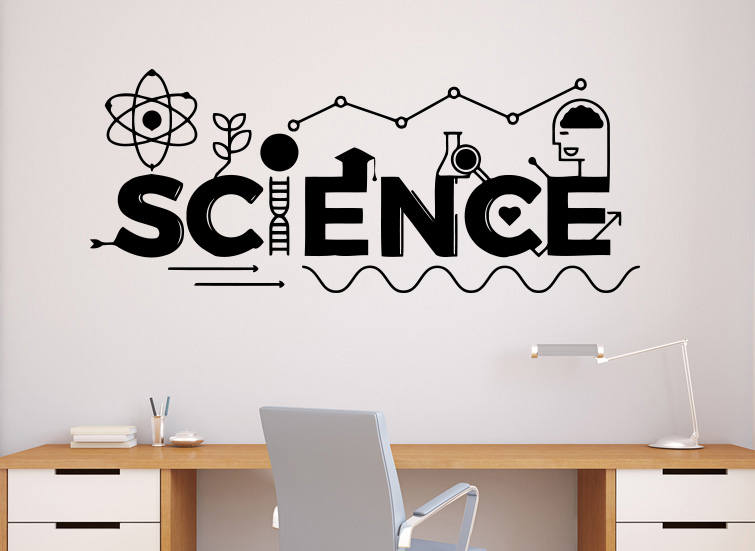 Science Wall Decal Vinyl Sticker School Education Home Office
