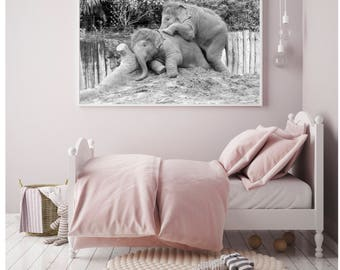 Elephant Photography Prints, Elephant decor, Baby elephant wall art, Elephant Nursery Decor, Elephant nursery wall art, Elephants, wildlife