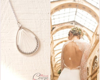 "Back jewel original customizable boho - wedding jewelry ""Tess"""