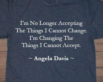 Angela Davis Quote Women's or Men's Crew Neck T-Shirt