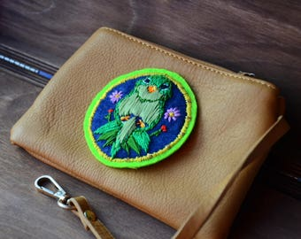 Embroidery Parrot brooch