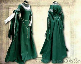 Medieval dress, robe for LARP fantasy in your size-cotton or linen