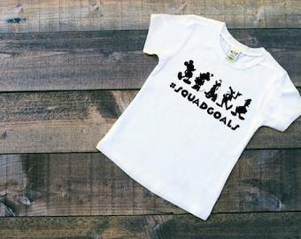 Squad Goals || Disney Shirt || Disney Squad || Disney Vacation Shirt || DisneyWorld || Girls Disney Shirt || Boys Disney Shirt || Pluto