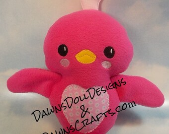 Adorable Stuffed Lovebird or Chick Softie