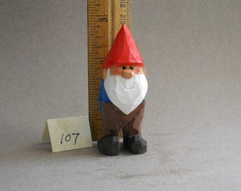Garden Gnome Wood carving   #107
