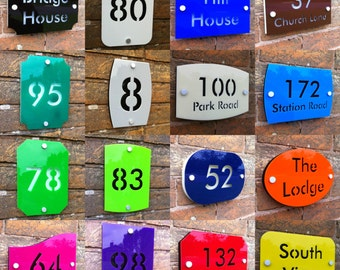 Modern House Number Address Sign Designer Contemporary Acrylic Stencil Plaque
