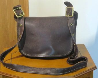 Dads Grads Sale Coach Patricia's Legacy Bag Brown ( Mahogany) Leather Brass Hardware With 50 Inch Strap No 9941-VGC Made in U.S.A.