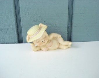 Vintage Pig In Bathing Suit and Hat by Enesco