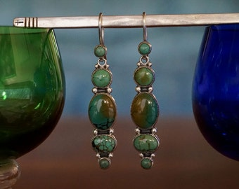 Turquoise Sterling Silver Dangle Earrings ... Made to Order