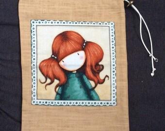 Small beige pattern Gorjuss girl