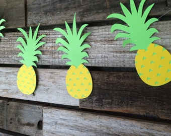 Luau Party Garland - Party Garland, Tropical Pineapple Garland, Summer Party, Birthday Party