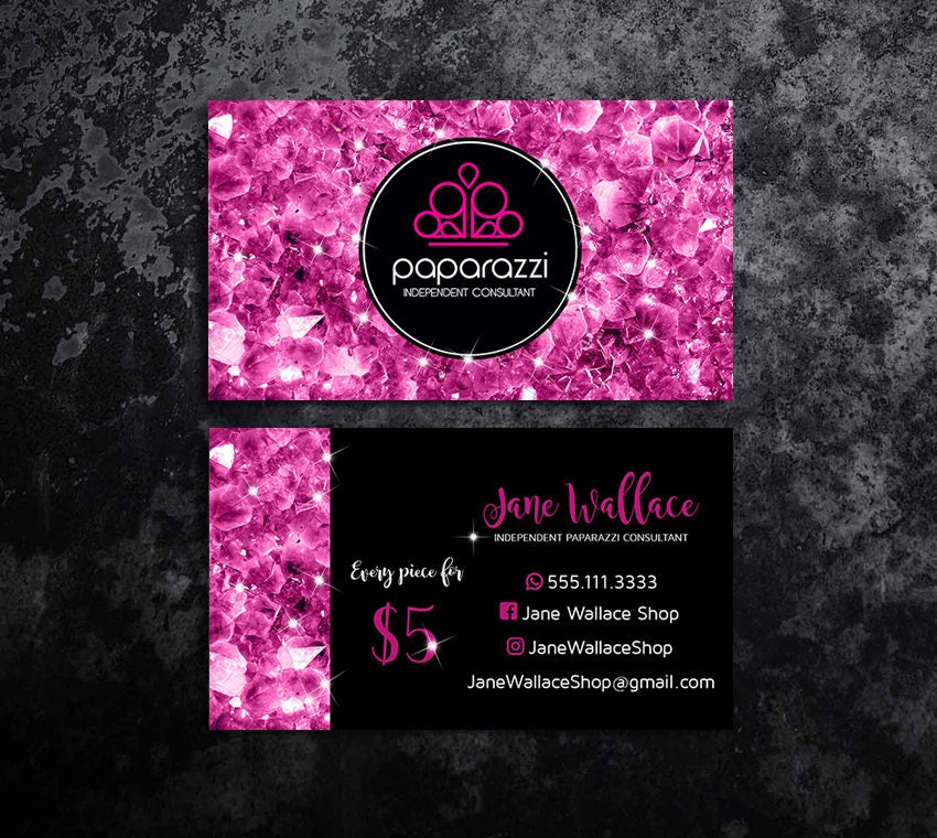 Paparazzi Business Cards Paparazzi Jewelry Paparazzi
