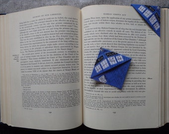 Dr. Who Corner Bookmark (tardis or dalek/laminated)