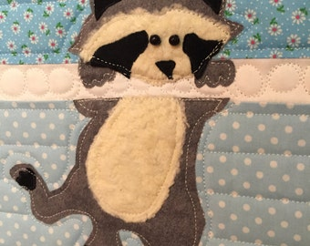 Raccoon Quilt Pattern by Ellen Abshier of Laugh Sew Quilt