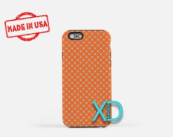 Rust Orange Phone Case, Rust Orange iPhone Case, Dotted iPhone 7 Case, Orange, Blue, Dotted iPhone 8 Case, Rust Tough Case, Clear Case