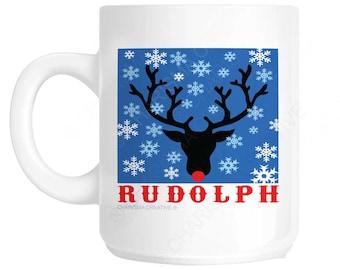Christmas Rudolph Novelty Fun Mug CH416