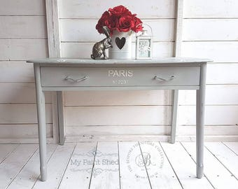 Console table, occasional table, side table, table, grey table, stencil, table with drawer