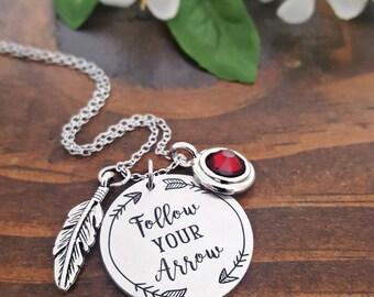 Follow Your Arrow Necklace | Graduation Necklaces For Her | Follow Your Arrow Graduation Necklace | Inspirational Necklace | Graduation Gift